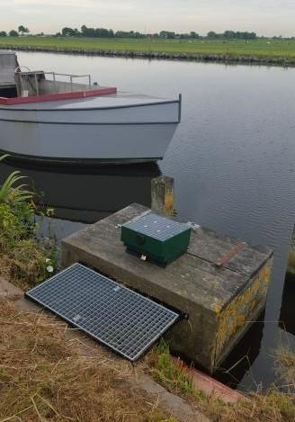 Foto van op zoutgehalte gestuurde inlaat in de Haarlemmermeer.