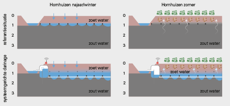Figuur 3 1 Werkingsmechanisme systeemgerichte drainage (bron: spaarwater.com).